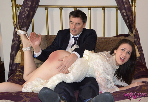 John Osborne spanking Sarah Gregory